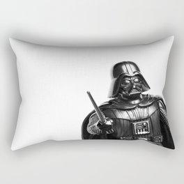 Darth Vader Black & White Photograph Rectangular Pillow