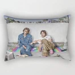 John and Paul get away from it all Rectangular Pillow