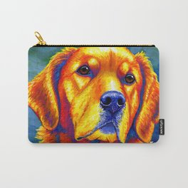 Faithful Friend - Colorful Golden Retriever Carry-All Pouch