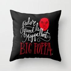 French Poppa Throw Pillow