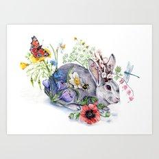 Spring Jackalope Art Print