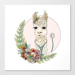 Healthcare Llama Canvas Print
