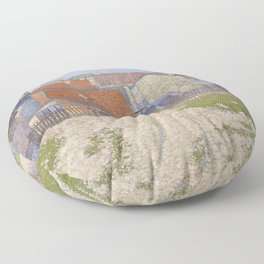 Gasometers at Clichy Floor Pillow