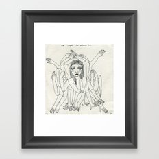 No Legs To Stand On Framed Art Print