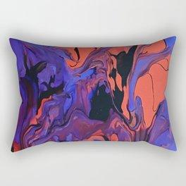 Blue, Teal and Orange Fantasy Rectangular Pillow