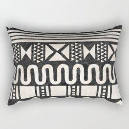 African Shapes - Black Rectangular Pillow