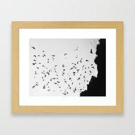 Black November Framed Art Print