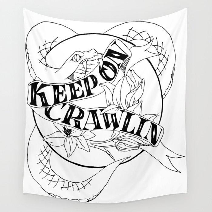 Crawling King Snake Wall Tapestry