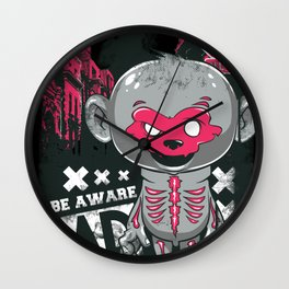 Cartoon Skeleton Wall Clock