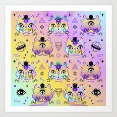 Galactic Cats  Art Print