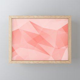 Pantone Living Coral Color of the Year 2019 on Abstract Geometric Shape Pattern Framed Mini Art Print