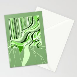 Swell Green Monochrome Stationery Cards