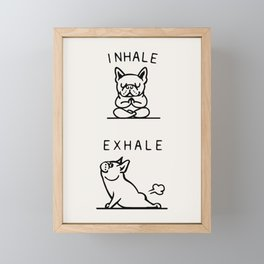 Inhale Exhale Frenchie Framed Mini Art Print