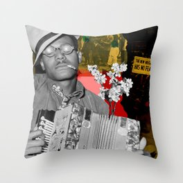 the new negro has no fear Throw Pillow