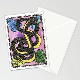 Impermanence snake Stationery Cards