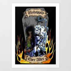 Unhappily Ever After - Lady Death & Evil Ernie Art Print