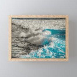 Crashing Waves Artistic Processed Photo Framed Mini Art Print