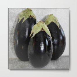 Three Eggplants | The Good, The Bad, & The Ugly | True story! Metal Print