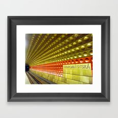 Train to Prague Framed Art Print