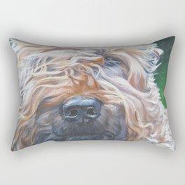 Soft-coated Wheaten Terrier from an original painting by L.A.Shepard Rectangular Pillow