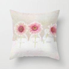 3 daisies Throw Pillow