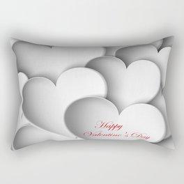 background paper hearts Rectangular Pillow