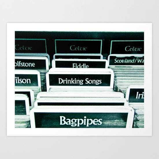 Drinking Songs & Bagpipes Art Print