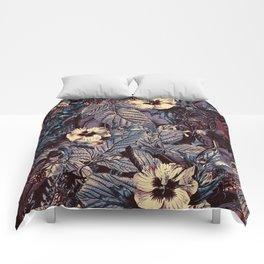 dark flowers #flower #flowers Comforters