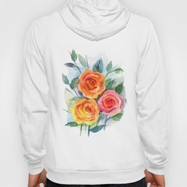 Watercolour Roses Hoody