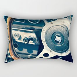 Old Triumph Wheel / Classic Cars Photography Rectangular Pillow