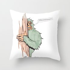 Bigfoote Throw Pillow