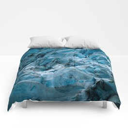 Blue Ice Glacier in Norway - Landscape Photography Comforters
