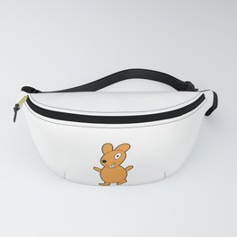 Funny and lovely rabbit drawing in color Fanny Pack