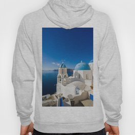 Oia in Santorini Greece Hoody
