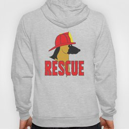 Cute Rescue Dog Gift – Fireman Helmet Hoody
