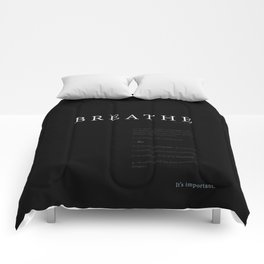 Breathe. A PSA for stressed creatives. Comforters