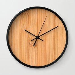 Cool elegant light brown bamboo wood print Wall Clock