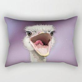 The Ostrich's Calling Rectangular Pillow