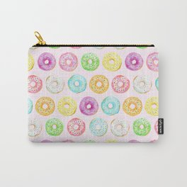 Watercolor pink sprinkle donuts Carry-All Pouch