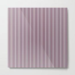 Modern Geometric Pattern 9 in Musk Mauve Stripes Metal Print