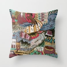 Rocky Campground Throw Pillow