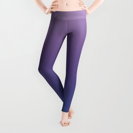 Ultra Violet Blue Lilac Ombre Gradient Pattern Leggings