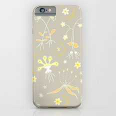 Yellow Floral Pattern iPhone 6s Slim Case