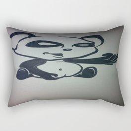Panda With Attitude Rectangular Pillow