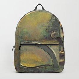 Rusty Golden Buddha Face - Zen and Balance Watercolor Painting Backpack
