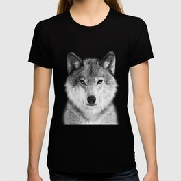 Wolf 2 - Black & White T-shirt