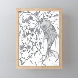 Koi With Vines Framed Mini Art Print