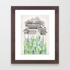 Stilts Framed Art Print