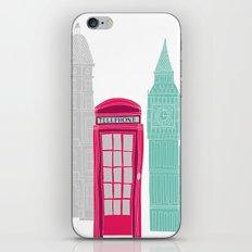 London Red Telephone Box (pink) iPhone & iPod Skin