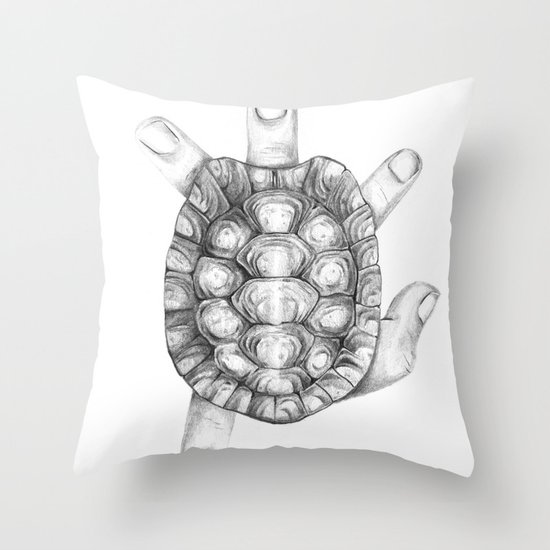 slow hand Throw Pillow